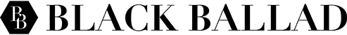 Black Ballad emblem & Text logo black